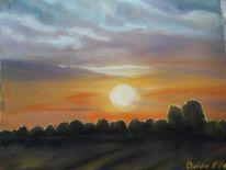 Abend, Sonne, Himmel, Malerei
