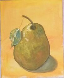 Birne, Herbst, Malerei