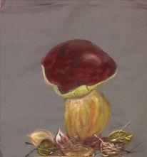 Stoffmalfarbe, Herbst, Pilze, Beutel