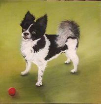 Hund, Tiere, Ball, Malerei