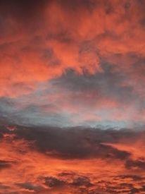 Abend, Wolken, Oktober, Himmel