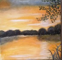 See, Ruhe, Sonnenaufgang, Natur
