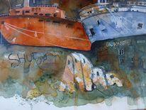 Aquarellmalerei, Meer, Graffiti, Wasser