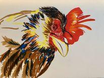 Aquapens, Vogel aquarell skizze, Tiere, Zeichnung