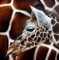 Giraffe, Sprühkunst, Airbrush, Sprühdose