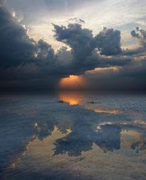 Wolken, Himmel, Schlagschatten, Sonnenuntergang