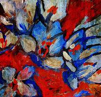 Blüte, Krokus, Bunt, Gemälde