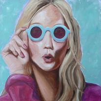 Portrait, Sonnenbrillen, Pink, Frau