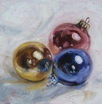Spiegelung, Ölmalerei, Rosa, Weihnachten
