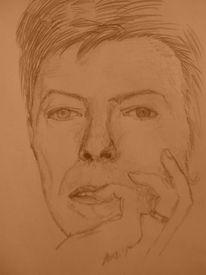 Portrait, Musiker, Menschen, Skizze