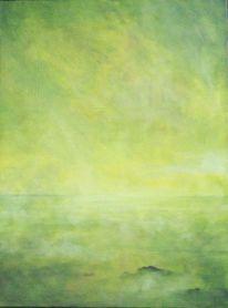 Schwerelosigkeit, Stille, Malerei, Abstrakt