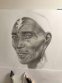 Grafit, Portrait, Bleistiftzeichnung, Zeichnungen