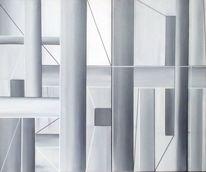 Schwarz Weiß, Baustelle, Balken, Grau