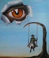 Frau, Augen, Träumerisch, Nachdenklich