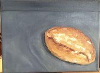 Frühstück, Brötchen, Essen, Malerei