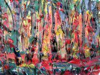 Malerei, Brand, Wald