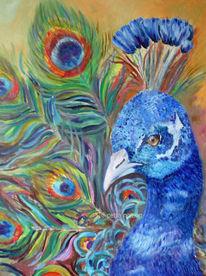 Bunt, Tiere, Pfau, Malerei