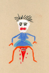Märchen, Humor, Zeichnung, Pastellmalerei