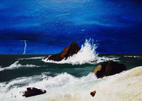 Welle, Ozean, Küste, Brandung