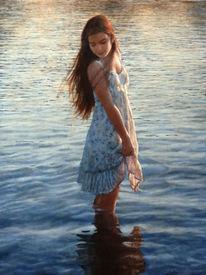 Fluss, Gesicht, Wasser, Reflexion