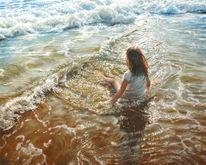 Hyperrealismus, Meer, Welle, Sonne