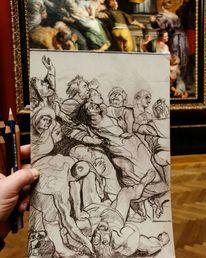 Kunsthistorisches museum, Gemäldestudie, Heiligen, Skizze