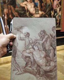 Michaelinawoutier, Bacchanal, Kunsthistorischesmuseumwien, Gemäldestudie