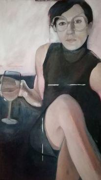 Figurativ, Gegenständlich, Ölmalerei, Weiblich