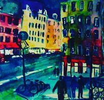 Bei nacht, Köln, Nusserstrasse, Agnesviertel