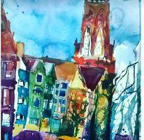 Köln, Wasserfarben, Stadtansichten, Agnesviertel