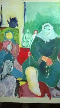 Grusse aus mekka, Wallfahrt, Neugier, Malerei
