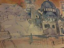 Moschee, Istanbul, Eminönü, Mischtechnik