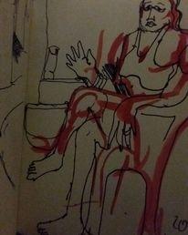 Frau, Edding, Skizze, Zeichnungen