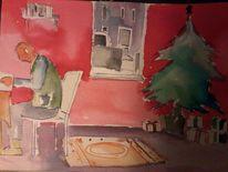 Weihnachten wasserfarben, Aquarell, Weihnachten