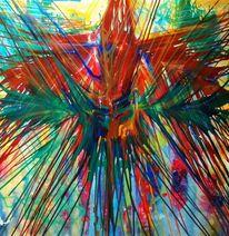 Abstrakt, Vogel, Paradies, Malerei