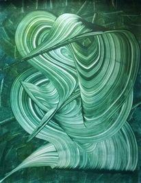 Abstrakt, Gemälde, Grün, Malerei