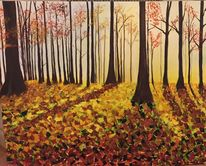 Laub, Wald, Blätter, Herbst