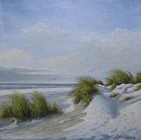 Winter, Dünen, Weiß, Meer