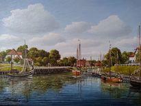 Schiff, Nordsee, Hafen, Harle