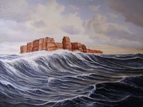 Welle, Helgoland, Insel, See