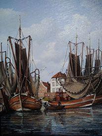 Ostfriesland, Fischer, Boot, Hafen
