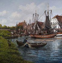 Mühle, Ostfriesland, Wasser, Fischer