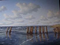 Wolken, Sand, Nordsee, Ostfriesland