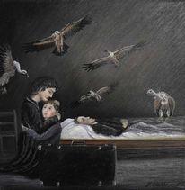 Geier, Kind, Tod, Mutter