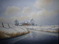 Schnee, Winter, Ostfriesland, Wasser