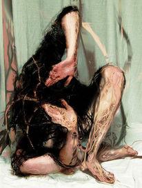 Arm, Selbstportrait, Ende, Hände