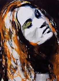 Portrait, Ausdruck, Menschen, Haare