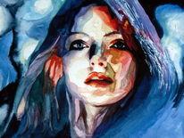 Portrait, Licht, Frau, Ausdruck