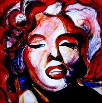 Rot, Gesicht, Portrait, Ausdruck