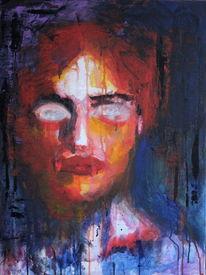 Portrait, Ausdruck, Farben, Abstrakt
